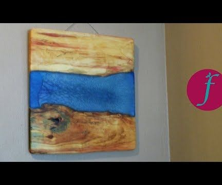 DIY Wood and Resin River Wall Art