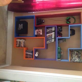 Build a Tetris DVD (or Book) Shelf