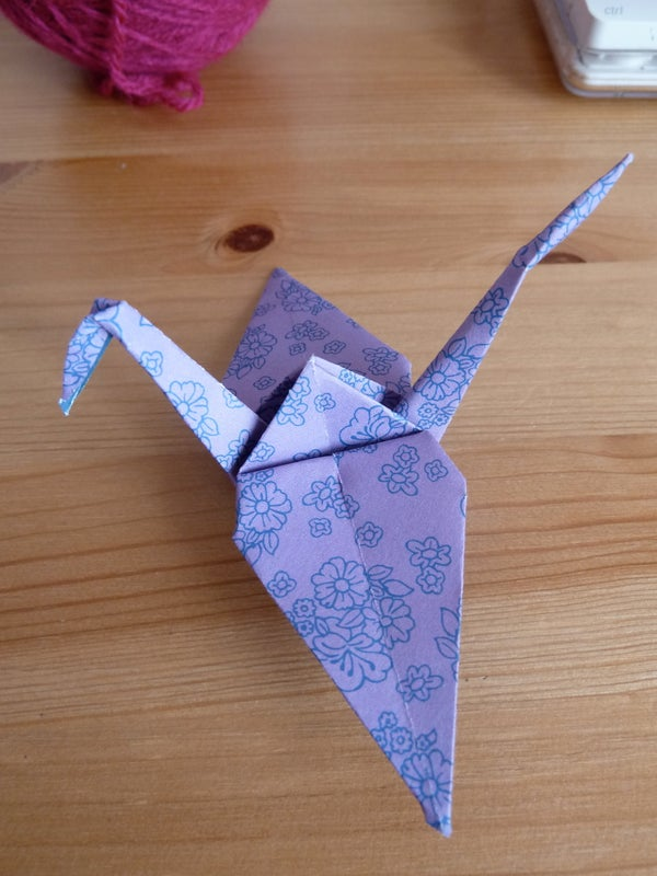 Origami Crane Instruction