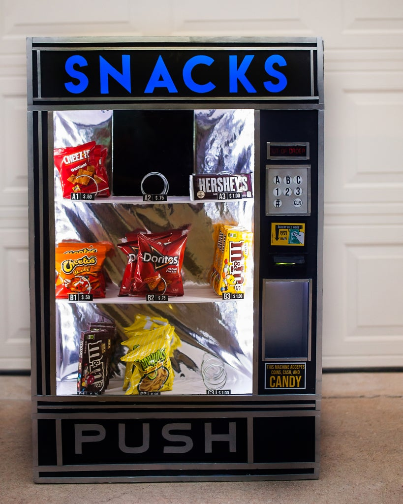 Vending Machine Costume With Working Lights