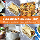 Busy Work Week Meal Prep + Effective Meal Plan Guide and Shopping List
