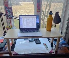 Quick Standing Desk Shelf