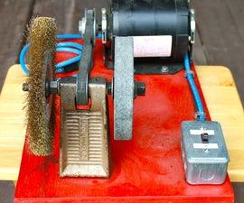Portable Bench Grinder Using Old Furnace Motor