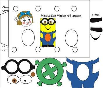 Download This Pattern for Miss La Sen Minion Roll Lantern.