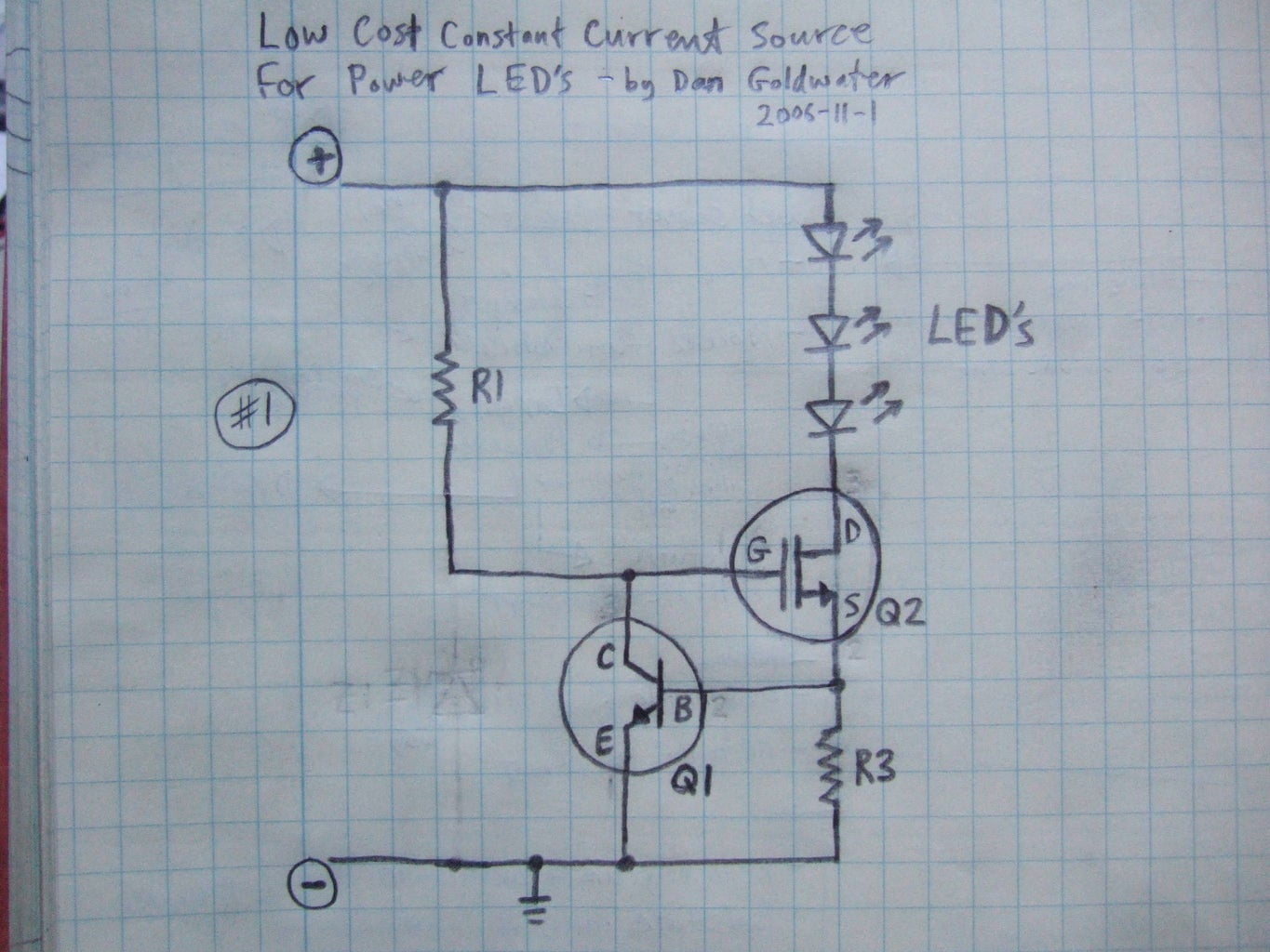 The New Stuff!!  Constant Current Source #1