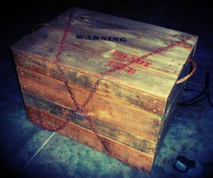 Monster in a Box, Haunted House Halloween Prop
