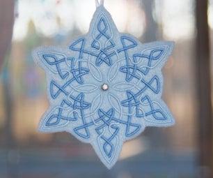 Sparkling Snowflake Ornaments