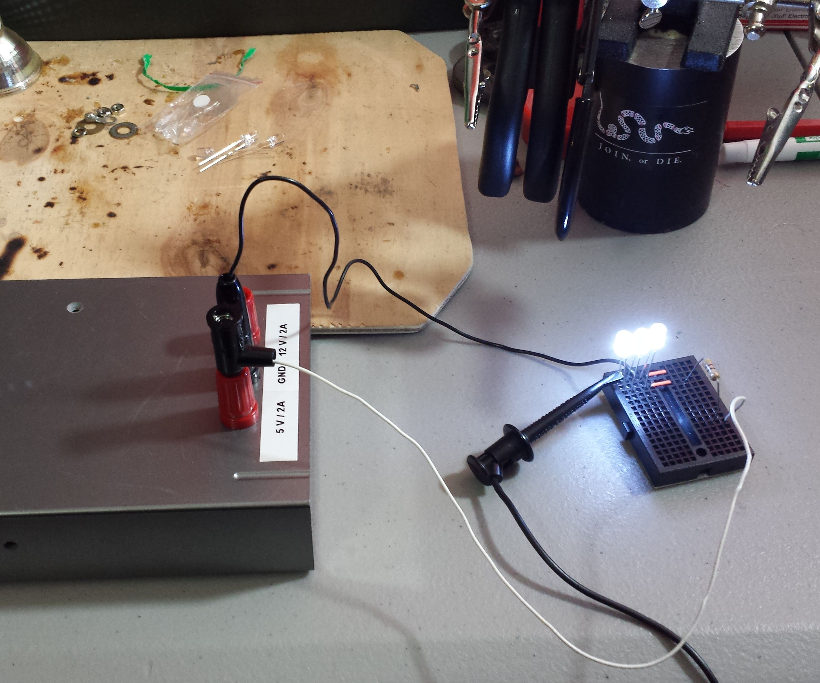 Building a super simple regulated bench power supply from an old external hard drive