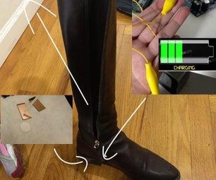 Piezoelectric Nanofiber Electricity Shoes PROTOTYPE #1