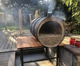 Oil Drum Pizza Oven