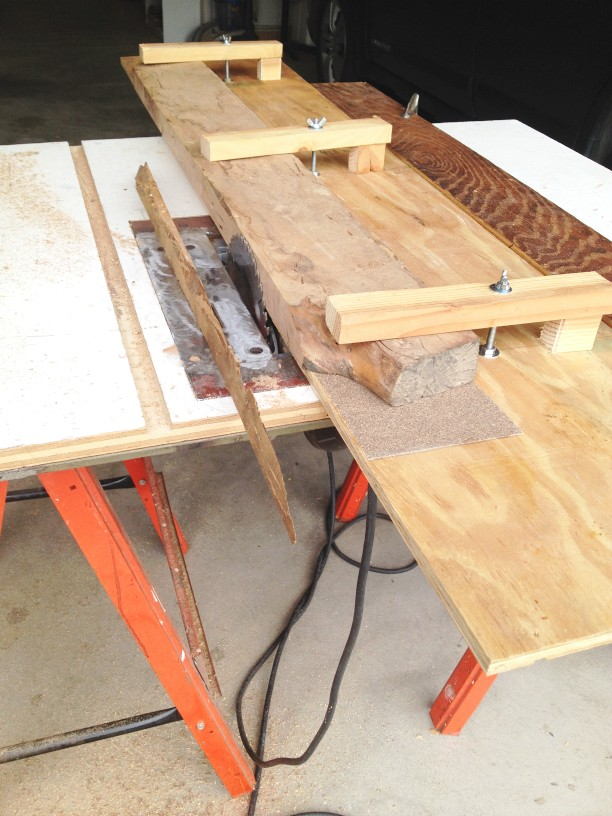 Sled for Making a True Edge with a Table Saw