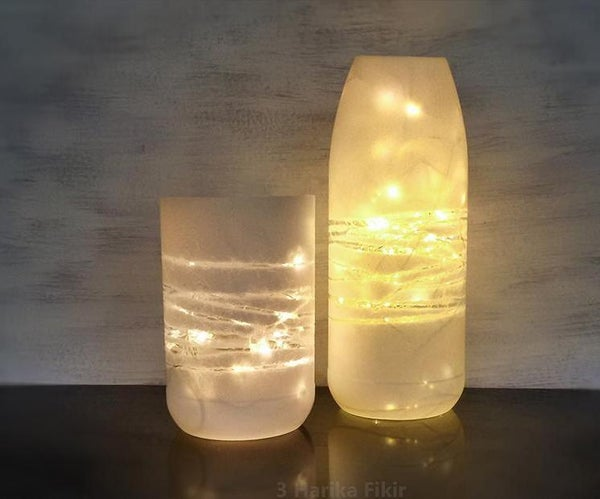 Room Decor Idea With Plastic Bottle and Led Light
