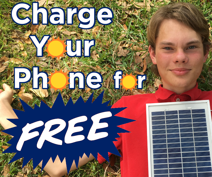 Charge Your Phone for FREE With the Solar Panel Phone Charger