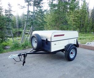 复古风格露营装备拖车
