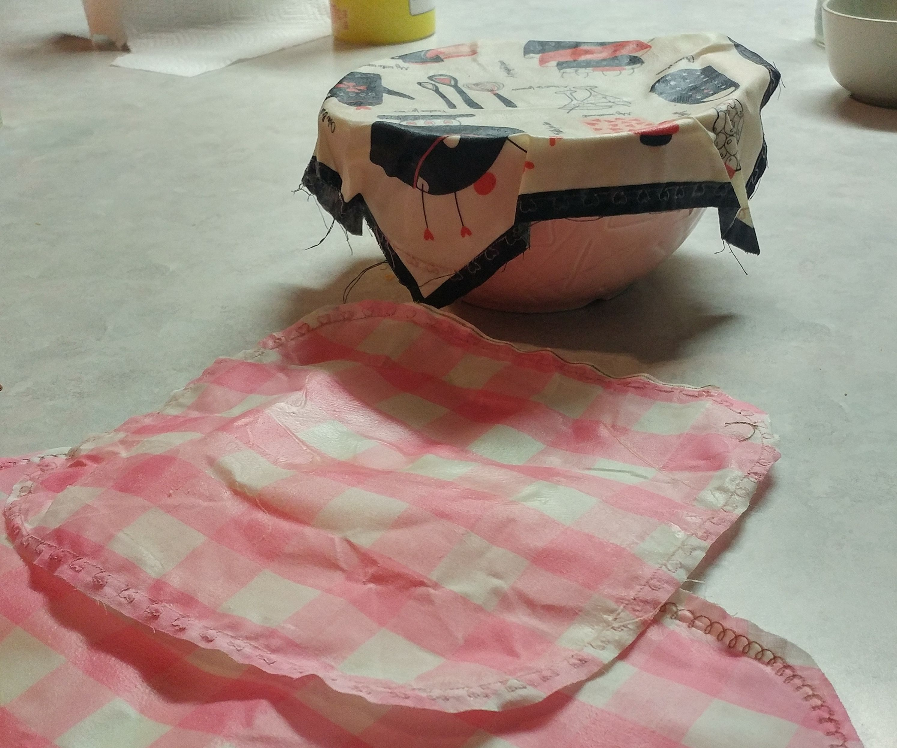 Reusable Food Cover- Beeswax Style