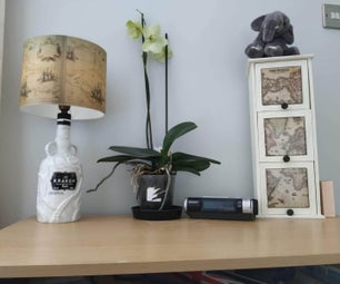 Up-cycled Booze Bottle Lamp