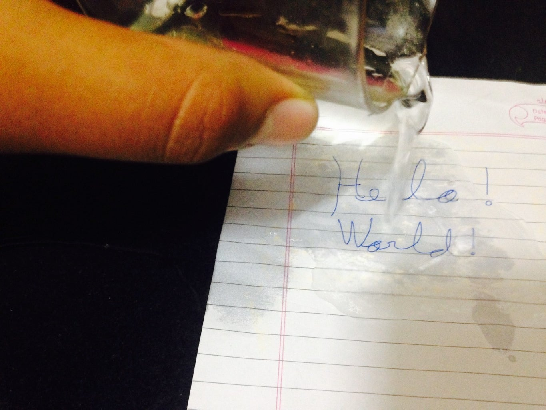 Waterproof Paper Using Wax!