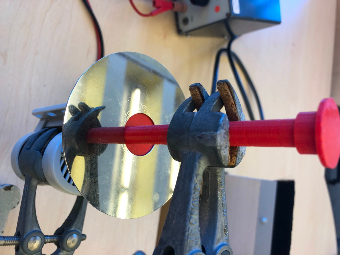 Placing the Disk Above the Motor