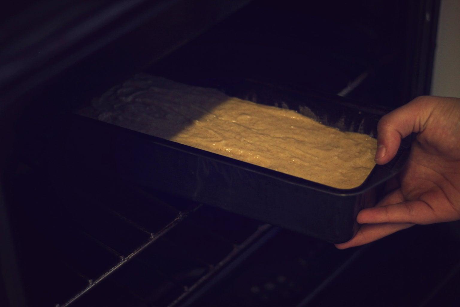 Bake in Loaf Tin.