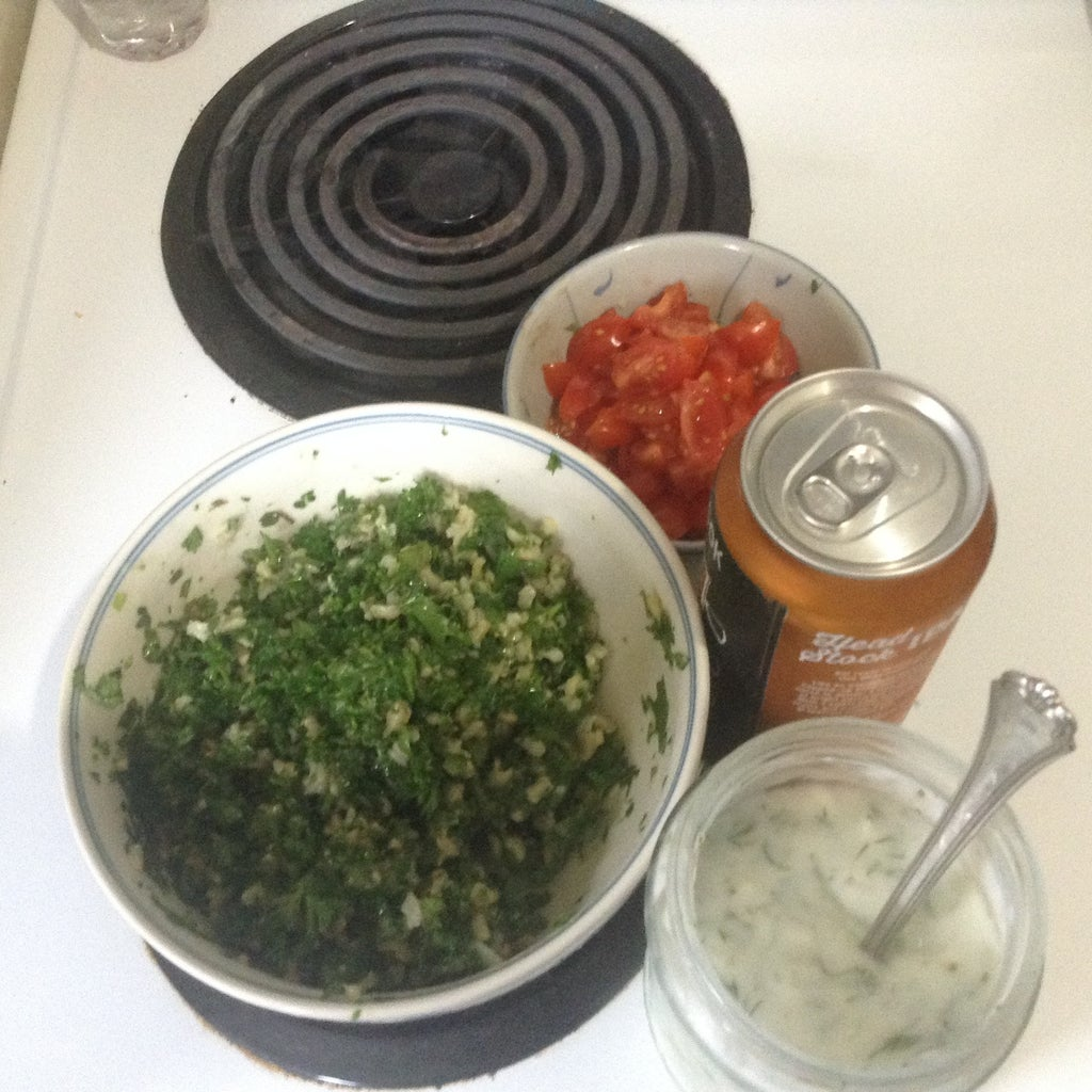 Early in the Day, Make the Tzadziki and Tabouleh