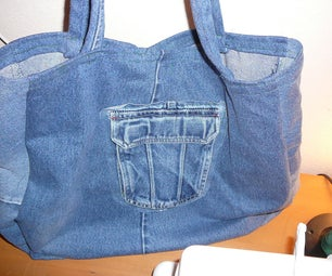 Recycled Denim Shopping Bag