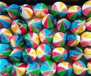 Rainbow Meringue Kisses