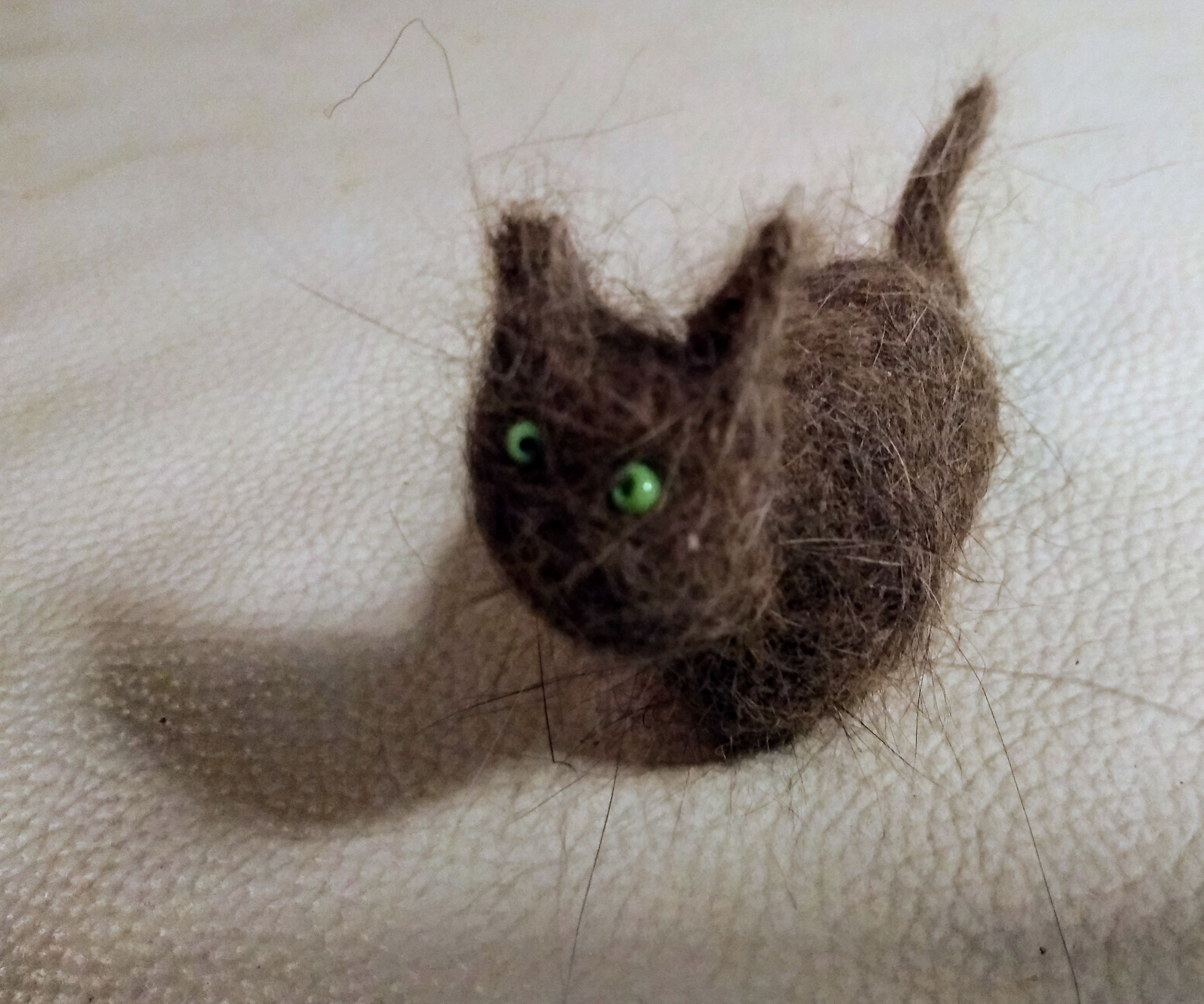 Felting a Mini Kitty From Your Cat's Fur