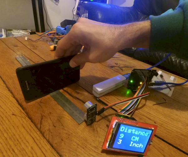 Distance Measurement With 2.4 Ftf and Ultrasonic Sensor