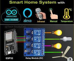Arduino IoT Cloud ESP32 Alexa Voice Control Smart Home | IoT 2021