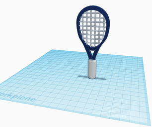 How to Make a Tennis Racket on Tinkercad (Instructable)