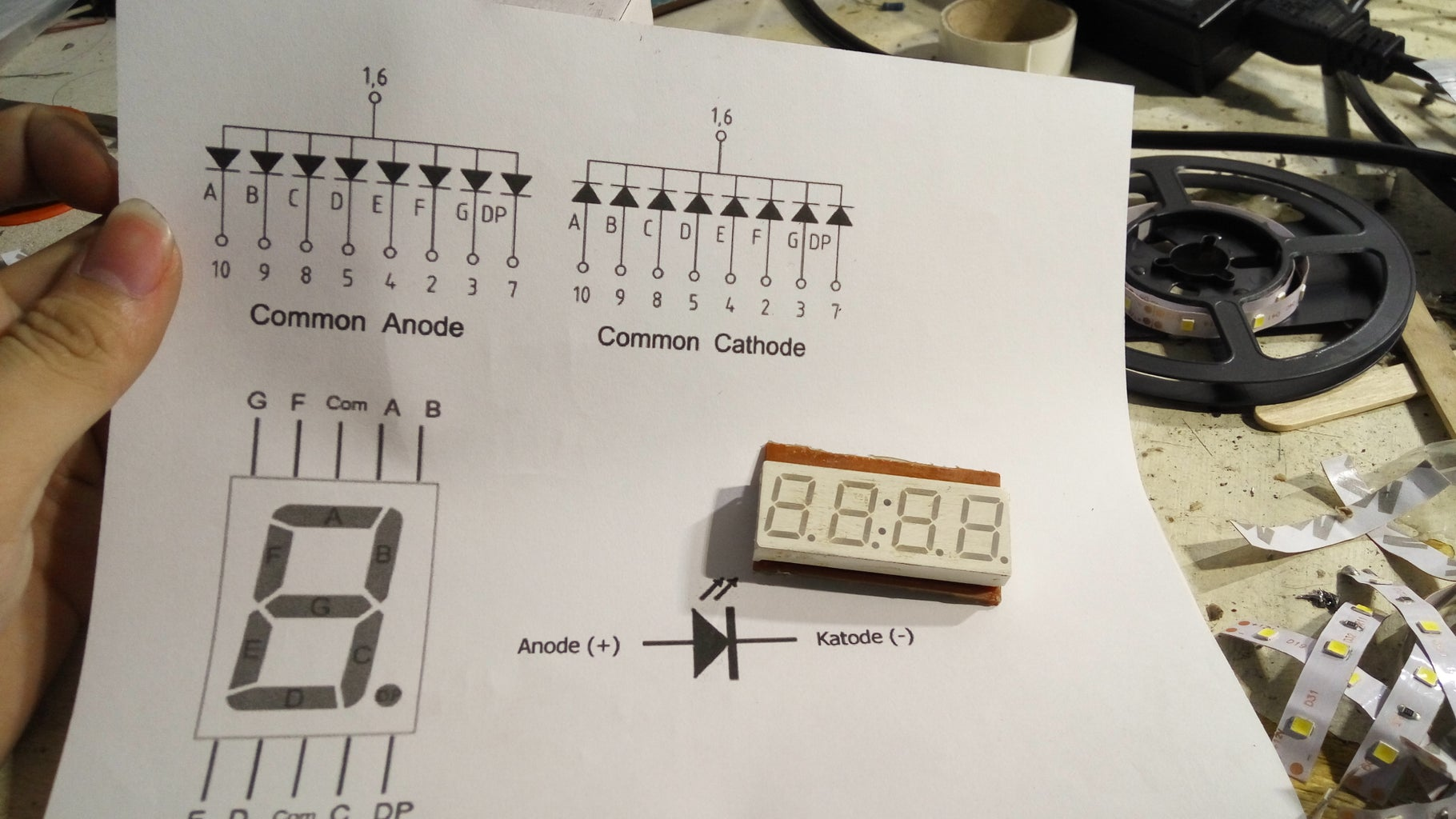 What 7 Segment Common Pin Type Do You Have? Anode or Cathode?