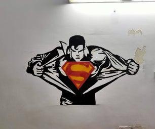 Making a Superman Wall Mural