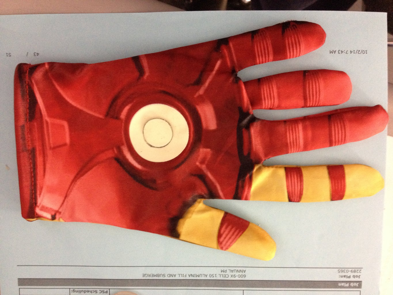 Mark a Circle in the Center of the Repulsor
