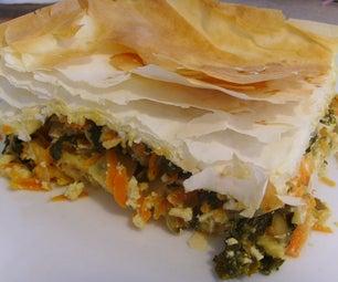 Vegan Kale Phyllo Pie