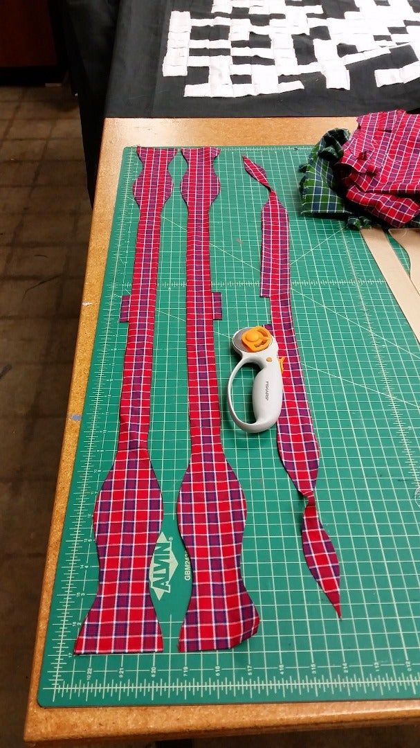 Align Template and Cut the Fabric