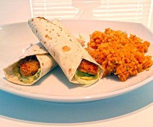 Vegan Crunchy Chick'n Wraps (Featuring Gardein)