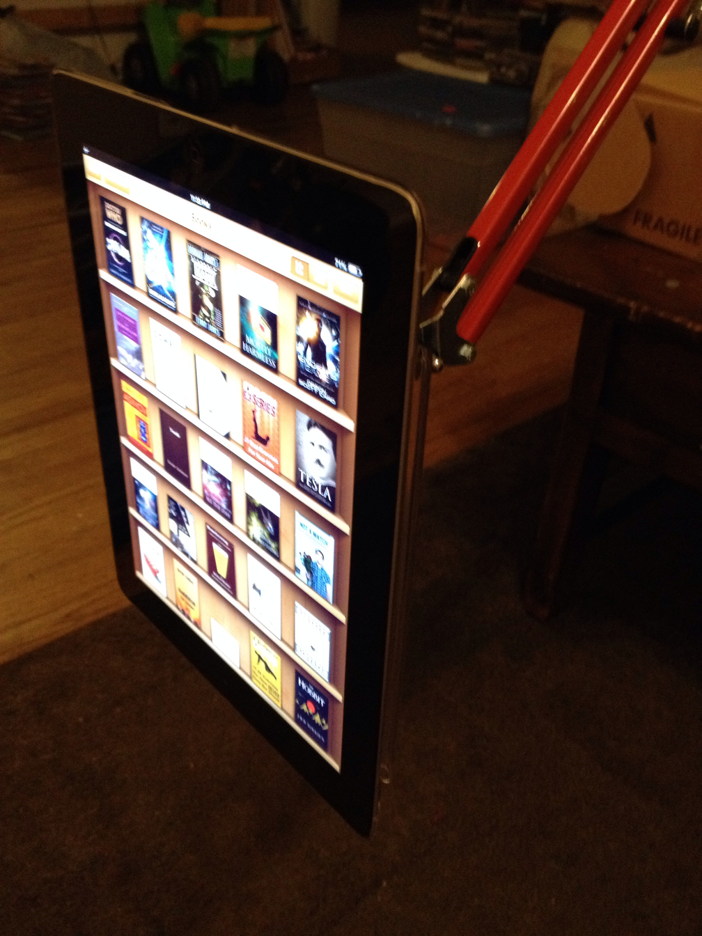 IPad Or Other Ebook Articulated Reading Arm.