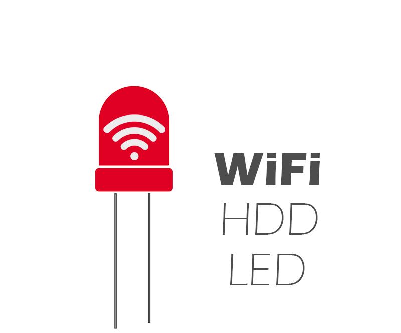 WiFi HDD LED