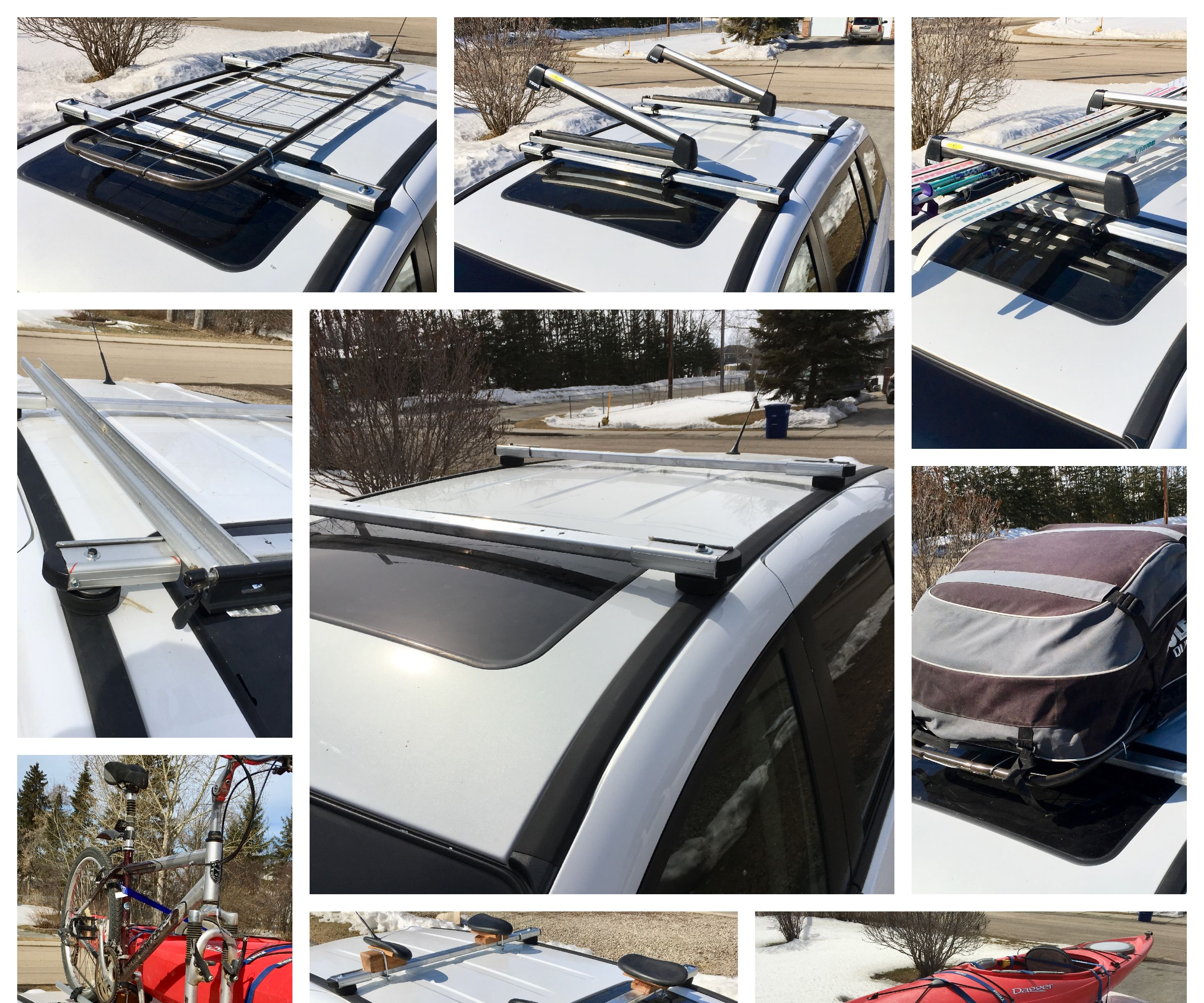 Homemade Roof Rack With Accessories