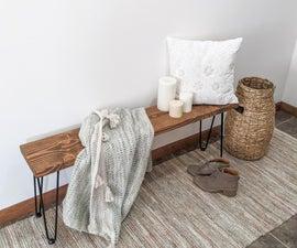 Simple DIY Farmhouse Style Bench