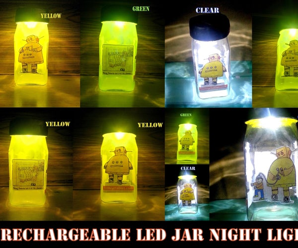 Rechargeable LED Jar Night Light