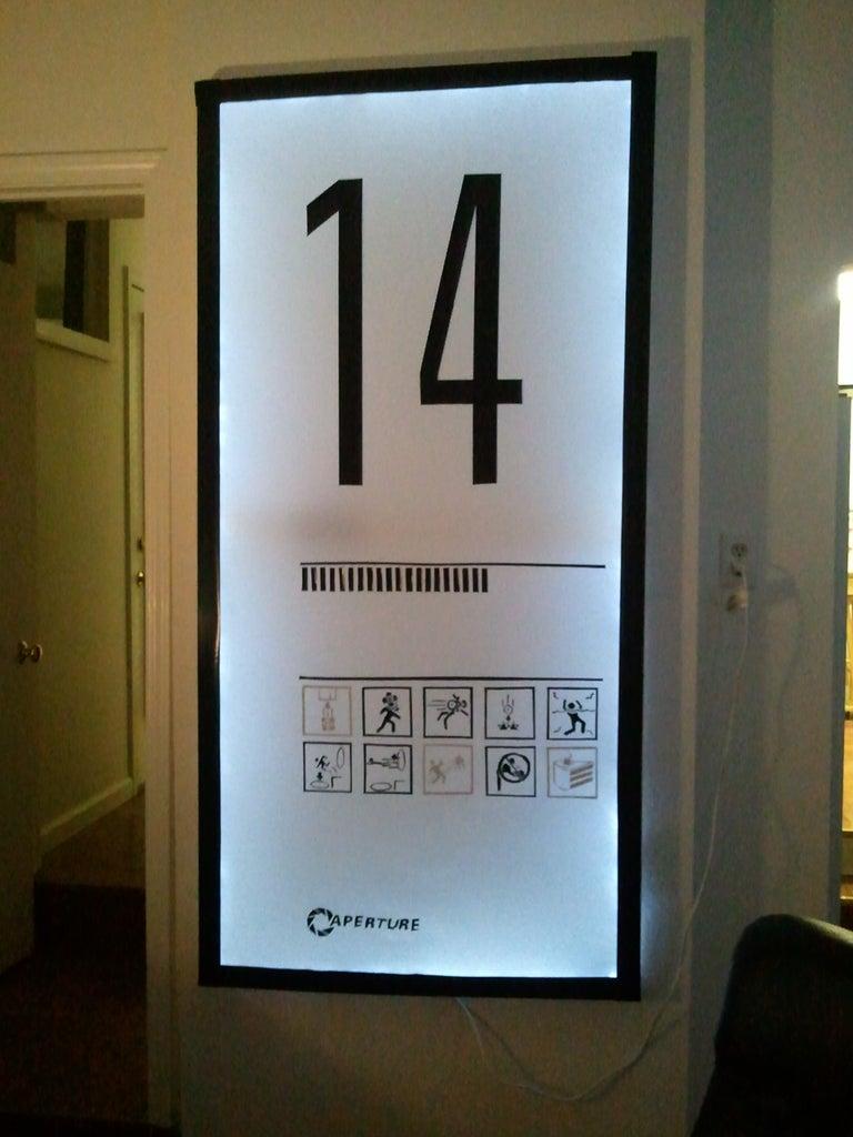 Portal Level Sign Wall Hanging/Lamp