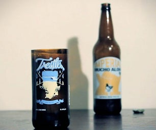 Beer Bottle Pint Glass