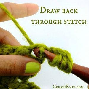 Draw Back Through Stitch