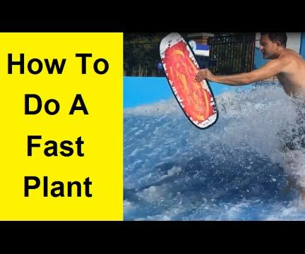 How To do a Fast Plant on a Flowrider