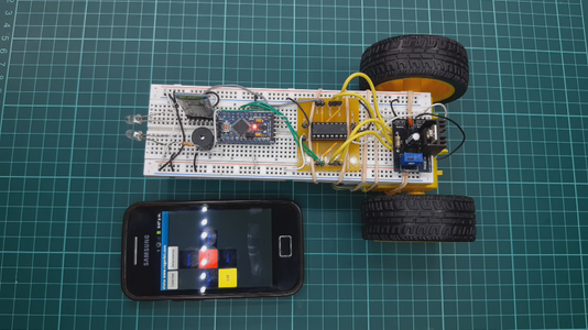 Easy to Assemble Bluetooth Controlled Robot With L293d