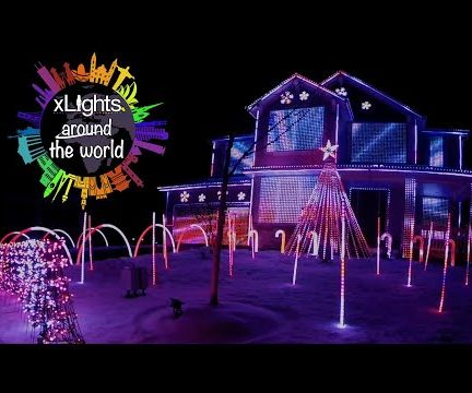 Holiday Light Show Synced to Music