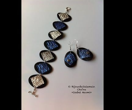 How to make an embossed oval bracelet
