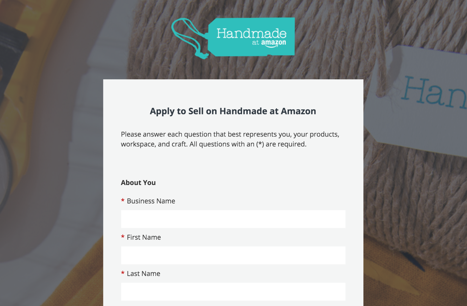 How to Apply for Handmade at Amazon