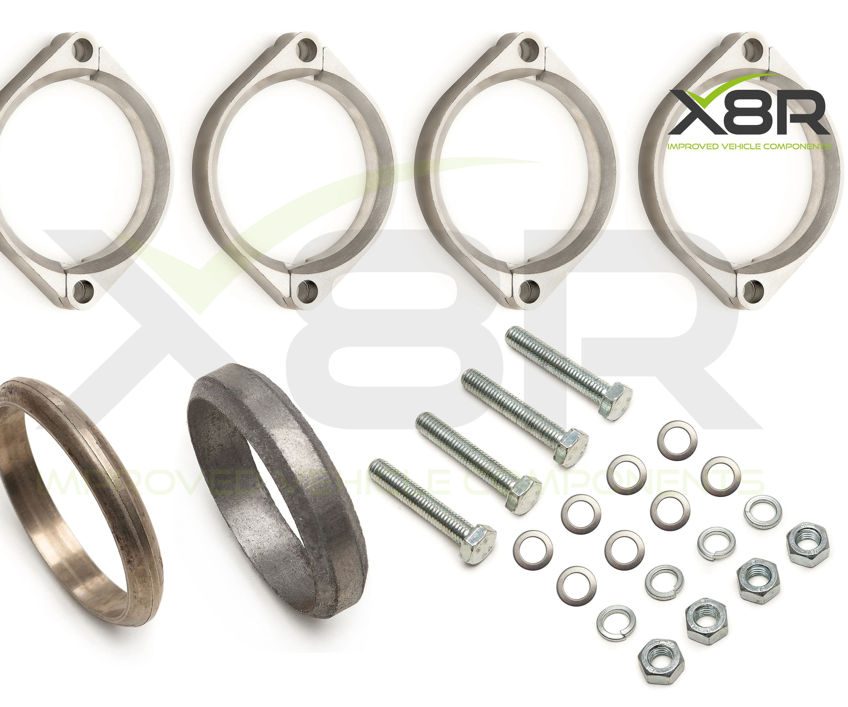 BMW E46 M3 Exhaust Muffler Back Box Flange Rusted Corroded Flanges Repair Kit Install Fitting Guide Instructions